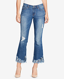 WILLIAM RAST Frayed-Cuff Skinny Jeans