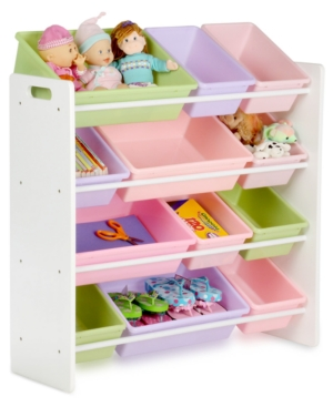 Closeout! Honey Can Do Kids Toy Room Organizer with Totes, 12 Bins