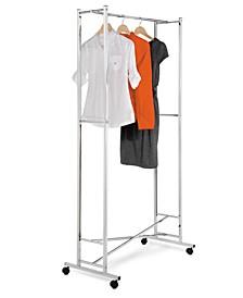 Garment Rack, Chrome Square Tube Foldaway