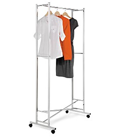 Honey Can Do Garment Rack, Chrome Square Tube Foldaway