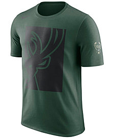Nike Men's Milwaukee Bucks Cropped Logo T-Shirt