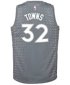 Nike Karl-Anthony Towns Minnesota Timberwolves City Edition Swingman Jersey, Big Boys (8-20)