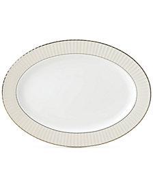Lenox Pleated Colors Gray Platter