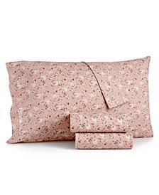 CLOSEOUT! Sanders Vintage Cotton 4-Pc. Farmhouse Floral Queen Sheet Set