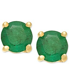 Emerald Stud Earrings (1 ct. t.w.) in 14k Gold