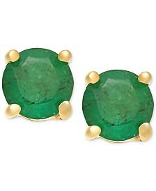 Emerald Stud Earrings (1 ct. t.w.) in 14k Gold