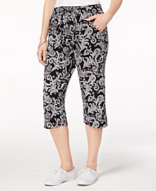 Karen Scott Printed Capri Pants, Created for Macy's