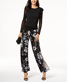 I.N.C. Illusion Top & Printed Pants, Created for Macy's