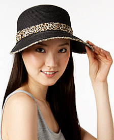 August Hats Animal-Print Framer Hat