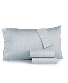 CLOSEOUT! Hotel Collection Modern Grid Cotton 525-Thread Count 4-Pc. California King Sheet Set, Created for Macy's