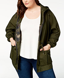 Levi's® Plus Size Crinkle Fishtail Windbreaker Parka