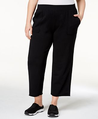 Style & Co Plus Size Relaxed French Terry Cropped Pants, Created for Macy's