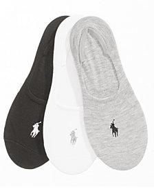 Polo Ralph Lauren Women's 3-Pk. Flat Knit Sneaker Liner Socks