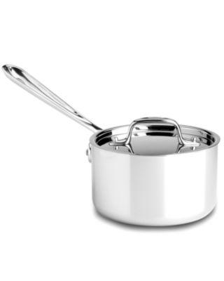 allclad stainless steel 15 qt covered saucepan cookware u0026 cookware sets kitchen macyu0027s bridal and wedding registry