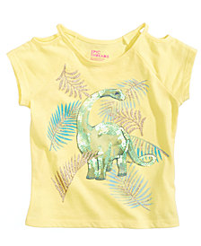 Epic Threads Sequin Dino Graphic-Print T-Shirt, Little Girls, Created for Macy's