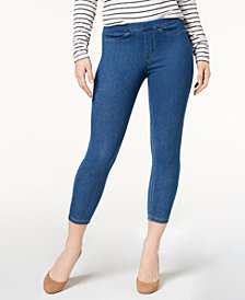 HUE® Women's  Original Denim Capri Leggings, Created for Macy's