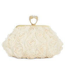 I.N.C. Ninaa Flower Ring Clutch, Created for Macy's