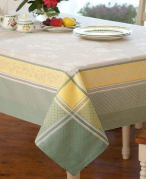 "Villeroy & Boch Fleurence Jacquard 63"" x 63"" Tablecloth 5633342"