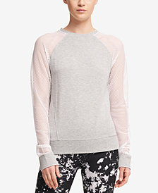 DKNY Sport Sheer-Sleeve Sweatshirt