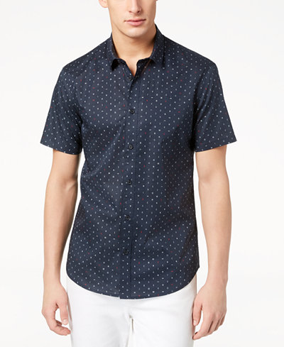 A X Armani Exchange Men's Letter Print Shirt, Created for Macy's