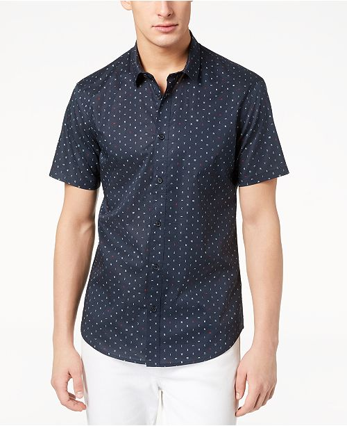 5923a5fe ... A X Armani Exchange Men's Letter Print Shirt, Created for Macy's ...