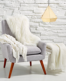 Lacourte Glam Whites Throw Collection, Created for Macy's