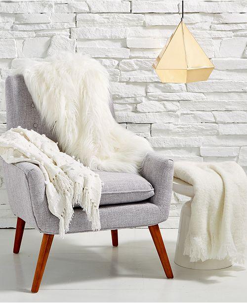 Lacourte LAST ACT Flokati 40 X 40 FauxFur Throw Created For Simple Flokati Throw Blanket