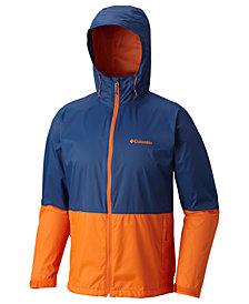 Columbia Men's Roan Mountain Colorblocked Rain Jacket