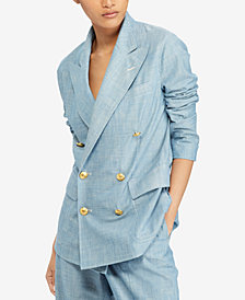 Polo Ralph Lauren Chambray Cotton Blazer
