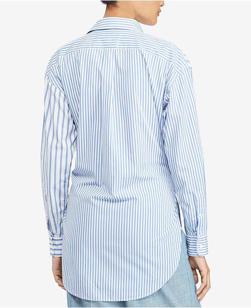 c2b53c2147f3 Polo Ralph Lauren. Tie-Front Striped Cotton Shirt. 7 reviews. main image   main image  main image ...