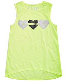 Ideology Graphic-Print Mesh-Detail Tank, Big Girls, Created for Macy's