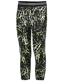 Ideology Splatter-Print Capri Leggings, Little Girls, Created for Macy's