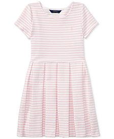 Ralph Lauren Striped Fit & Flare Dress, Big Girls