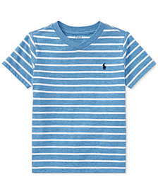 Ralph Lauren Striped V-Neck T-Shirt, Little Boys