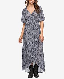 Roxy Juniors' Keep the Tempo Wrap Maxi Dress