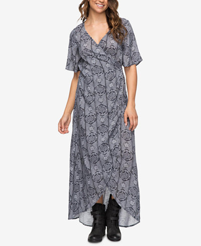 Roxy Juniors' Keep the Tempo Wrap Maxi Dress