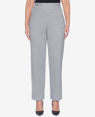 Alfred Dunner Play Date Pull-On Straight-Leg Pants