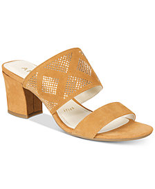 Anne Klein Nara Block-Heel Dress Sandals