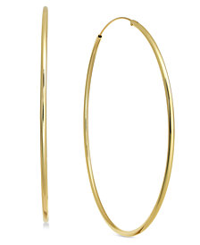 Essentials Endless Silver Plated Extra Large Hoop Earrings