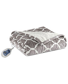 "Beautyrest Ogee 50"" x 64"" Heated Snuggle Wrap"