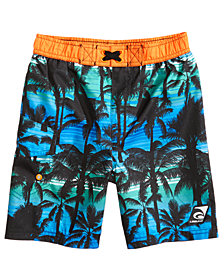 Laguna California Palms-Print Swim Trunks, Toddler Boys & Little Boys