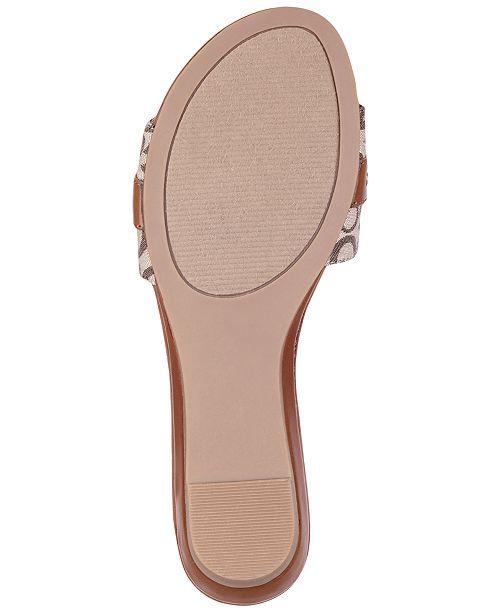 da4e8bec5 G by GUESS Jeena Slide Flat Sandals   Reviews - Sandals   Flip Flops ...