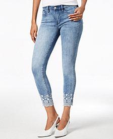 Buffalo David Bitton Faith Embroidered Skinny Ankle Jeans
