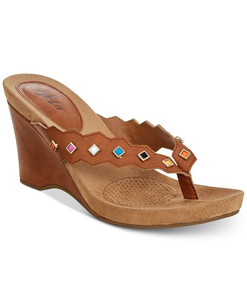 135cec3ee266 Style   Co Chicklet Wedge Thong Sandals