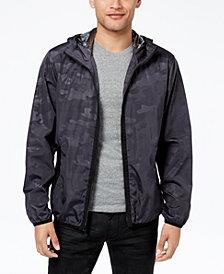 Sean John Men's Camouflage Full-Zip Hooded Windbreaker, Created for Macy's