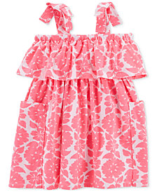 Carter's Off-The-Shoulder Floral-Print Dress, Little & Big Girls