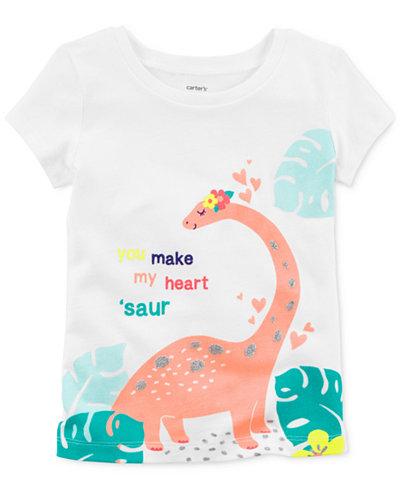 Carter's Dinosaur Cotton T-Shirt, Little & Big Girls
