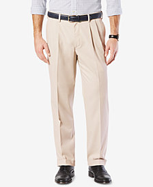 Dockers Men's Stretch Classic Fit Comfort Pleated Pants