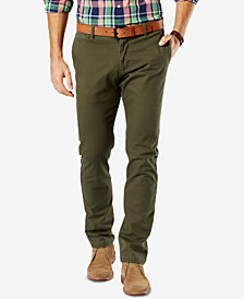 Dockers Men's Washed Khaki Slim Tapered Fit Stretch Pants