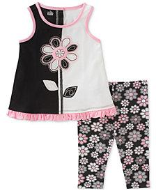 Kids Headquarters 2-Pc. Tunic & Floral-Print Capri Leggings Set, Little Girls